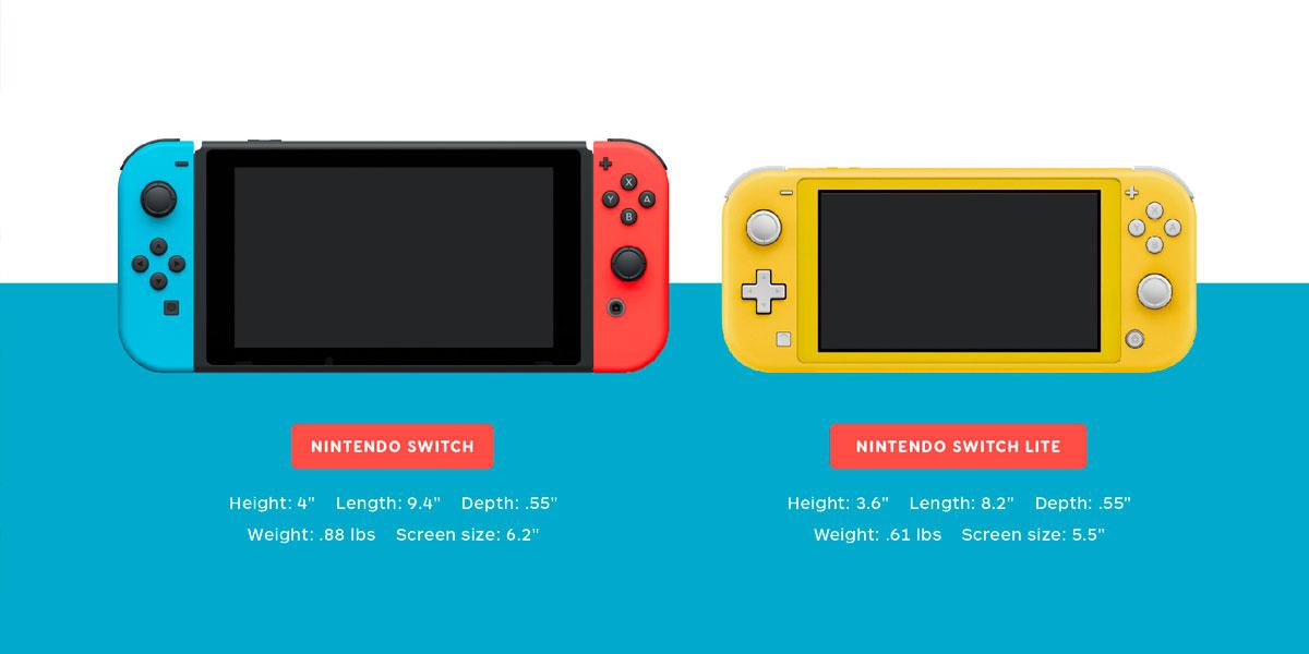 Nintendo Switch Vs Switch Lite Comparison